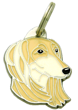 SALUKI WHITE AND CREAM - pet ID tag, dog ID tags, pet tags, personalized pet tags MjavHov - engraved pet tags online