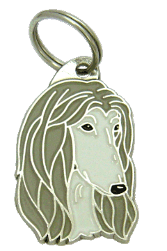 AFGHAN HOUND GREY - pet ID tag, dog ID tags, pet tags, personalized pet tags MjavHov - engraved pet tags online