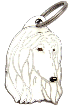 AFGHAN HOUND WHITE - pet ID tag, dog ID tags, pet tags, personalized pet tags MjavHov - engraved pet tags online
