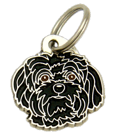 BOLONKA BLACK - pet ID tag, dog ID tags, pet tags, personalized pet tags MjavHov - engraved pet tags online