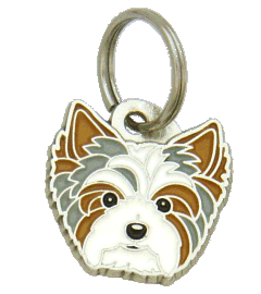 BIEWER YORKSHIRE TERRIER BLUE - pet ID tag, dog ID tags, pet tags, personalized pet tags MjavHov - engraved pet tags online