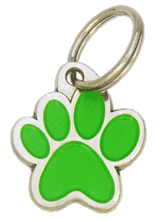 PAW MJAVHOV GREEN <br> (pet tag, engraving included)