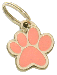 PAW MJAVHOV PINK - pet ID tag, dog ID tags, pet tags, personalized pet tags MjavHov - engraved pet tags online