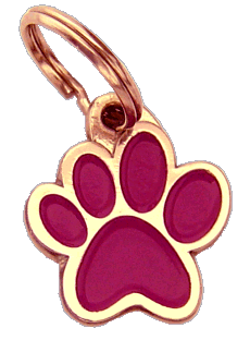 PAW MJAVHOV PURPLE - pet ID tag, dog ID tags, pet tags, personalized pet tags MjavHov - engraved pet tags online