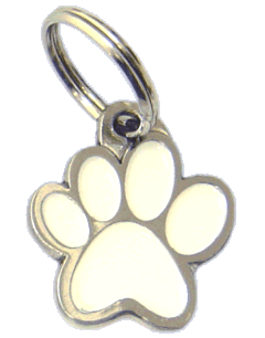 PAW MJAVHOV WHITE - pet ID tag, dog ID tags, pet tags, personalized pet tags MjavHov - engraved pet tags online