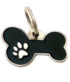 BONE MJAVHOV BLACK - pet ID tag, dog ID tags, pet tags, personalized pet tags MjavHov - engraved pet tags online