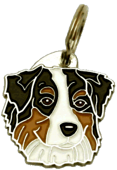 AUSTRALIAN SHEPHERD TRICOLOR - pet ID tag, dog ID tags, pet tags, personalized pet tags MjavHov - engraved pet tags online