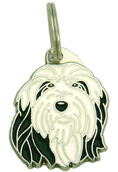 BEARDED COLLIE BLACK AND WHITE