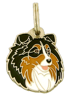 SHETLAND SHEEPDOG TRICOLOR <br> (pet tag, engraving included)