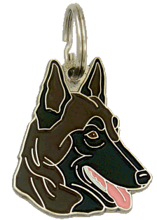 BELGIAN SHEPHERD, MALINOIS DARK BROWN - pet ID tag, dog ID tags, pet tags, personalized pet tags MjavHov - engraved pet tags online