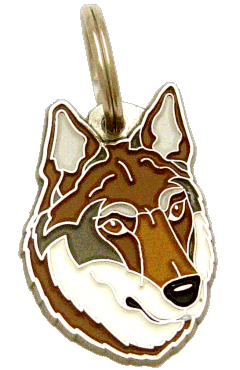 CZECHOSLOVAKIAN WOLFDOG BROWN - pet ID tag, dog ID tags, pet tags, personalized pet tags MjavHov - engraved pet tags online