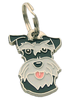 SCHNAUZER BLACK SILVER <br> (pet tag, engraving included)