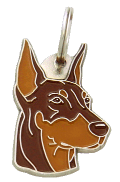 DOBERMAN BROWN - pet ID tag, dog ID tags, pet tags, personalized pet tags MjavHov - engraved pet tags online