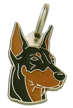 DOBERMAN CROPPED EARS - pet ID tag, dog ID tags, pet tags, personalized pet tags MjavHov - engraved pet tags online