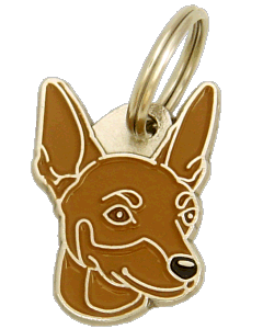 MINIATURE PINSCHER BROWN - pet ID tag, dog ID tags, pet tags, personalized pet tags MjavHov - engraved pet tags online