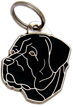 CANE CORSO BLACK <br> (pet tag, engraving included)