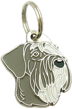 GIANT SCHNAUZER PEPPER SALT - pet ID tag, dog ID tags, pet tags, personalized pet tags MjavHov - engraved pet tags online