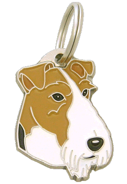 FOX TERRIER - pet ID tag, dog ID tags, pet tags, personalized pet tags MjavHov - engraved pet tags online