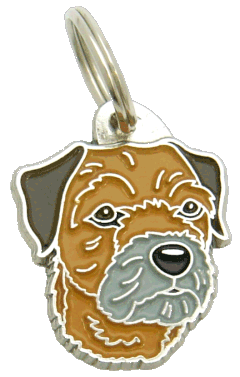 BORDER TERRIER - pet ID tag, dog ID tags, pet tags, personalized pet tags MjavHov - engraved pet tags online