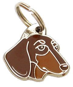 DACHSHUND BROWN - pet ID tag, dog ID tags, pet tags, personalized pet tags MjavHov - engraved pet tags online