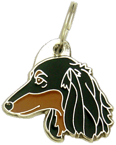 DACHSHUND LONGHAIRED - pet ID tag, dog ID tags, pet tags, personalized pet tags MjavHov - engraved pet tags online