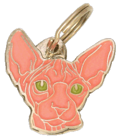 SPHYNX CAT PINK - pet ID tag, dog ID tags, pet tags, personalized pet tags MjavHov - engraved pet tags online