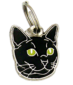RUSSIAN BLACK CAT <br> (pet tag, engraving included)