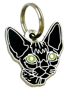 DEVON REX BLACK - pet ID tag, dog ID tags, pet tags, personalized pet tags MjavHov - engraved pet tags online