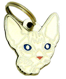 DEVON REX WHITE - pet ID tag, dog ID tags, pet tags, personalized pet tags MjavHov - engraved pet tags online