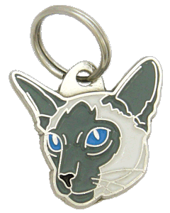 Siamese cat blue - pet ID tag, dog ID tags, pet tags, personalized pet tags MjavHov - engraved pet tags online