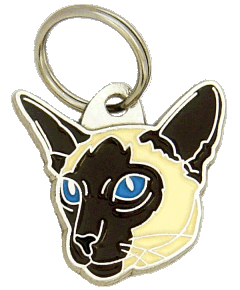 Siamese cat - pet ID tag, dog ID tags, pet tags, personalized pet tags MjavHov - engraved pet tags online