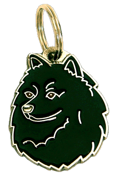 GERMAN SPITZ BLACK - pet ID tag, dog ID tags, pet tags, personalized pet tags MjavHov - engraved pet tags online