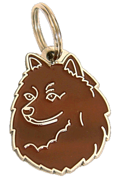 GERMAN SPITZ BROWN - pet ID tag, dog ID tags, pet tags, personalized pet tags MjavHov - engraved pet tags online