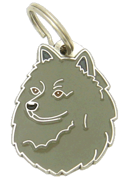 GERMAN SPITZ GREY - pet ID tag, dog ID tags, pet tags, personalized pet tags MjavHov - engraved pet tags online