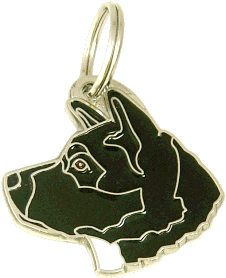 AKITA BLACK <br> (pet tag, engraving included)