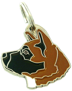 AKITA BLACK RED - pet ID tag, dog ID tags, pet tags, personalized pet tags MjavHov - engraved pet tags online