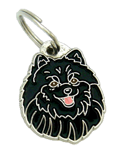POMERANIAN BLACK - pet ID tag, dog ID tags, pet tags, personalized pet tags MjavHov - engraved pet tags online