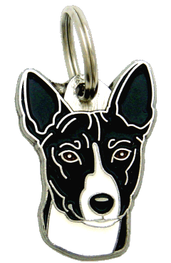 BASENJI BLACK AND WHITE - pet ID tag, dog ID tags, pet tags, personalized pet tags MjavHov - engraved pet tags online
