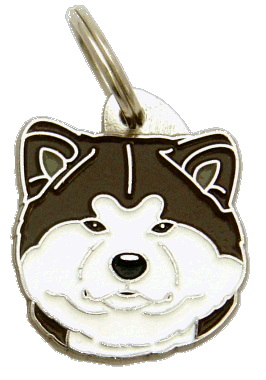AKITA INU WHITE BRINDLE - pet ID tag, dog ID tags, pet tags, personalized pet tags MjavHov - engraved pet tags online