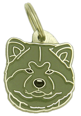 AKITA INU GREY - pet ID tag, dog ID tags, pet tags, personalized pet tags MjavHov - engraved pet tags online