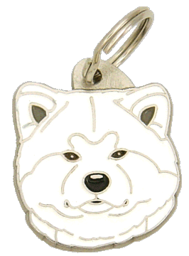 AKITA INU WHITE - pet ID tag, dog ID tags, pet tags, personalized pet tags MjavHov - engraved pet tags online