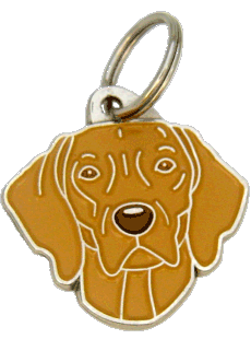 WEIMARANER BROWN - pet ID tag, dog ID tags, pet tags, personalized pet tags MjavHov - engraved pet tags online
