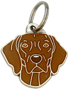 WEIMARANER DARK BROWN - pet ID tag, dog ID tags, pet tags, personalized pet tags MjavHov - engraved pet tags online