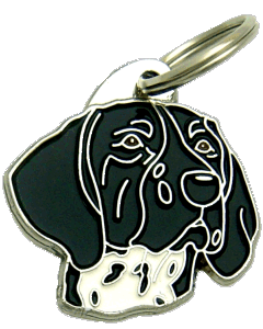 GERMAN SHORTHAIRED POINTER BLACK - pet ID tag, dog ID tags, pet tags, personalized pet tags MjavHov - engraved pet tags online