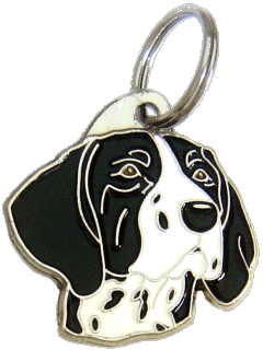 GERMAN SHORTHAIRED POINTER BLACK AND WHITE - pet ID tag, dog ID tags, pet tags, personalized pet tags MjavHov - engraved pet tags online