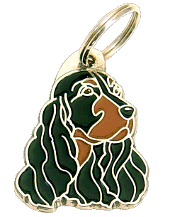 COCKER BLACK & TAN - pet ID tag, dog ID tags, pet tags, personalized pet tags MjavHov - engraved pet tags online
