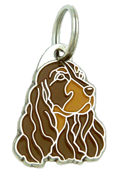COCKER SPANIEL RED BROWN - pet ID tag, dog ID tags, pet tags, personalized pet tags MjavHov - engraved pet tags online