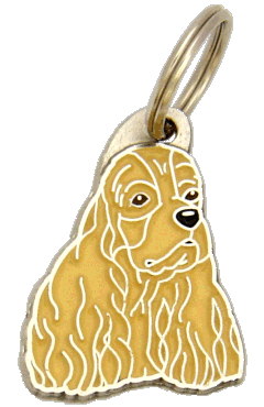 AMERICAN COCKER SPANIEL BROWN - pet ID tag, dog ID tags, pet tags, personalized pet tags MjavHov - engraved pet tags online