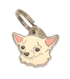 CHIHUAHUA CREAM <br> (pet tag, engraving included)