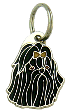 SHIH-TZU BLACK - pet ID tag, dog ID tags, pet tags, personalized pet tags MjavHov - engraved pet tags online